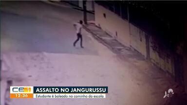 Estudante é baleado durante assalto - Saiba mais em g1.com.br/ce