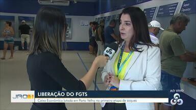 Liberação do FGTS - Caixa Econômica lotada em Porto Velho na primeira etapa de saques