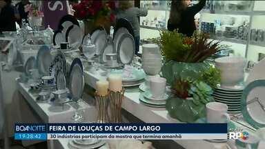 Ainda dá tempo de aproveitar a Feira de Louças de Campo Largo - Trinta indústrias participam da mostra que termina neste domingo (15).
