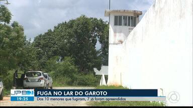 Internos do Lar do Garoto são recapturados após fuga, no Agreste da PB - Segundo a Fundac, seis foram recapturados dos 10 que fugiram, na noite desta sexta-feira (13).