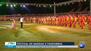 Bandas e fanfarras se apresentam na segunda noite do Festival, em Santarém - Apresentações de bandas musicais serão atração neste sábado (14). Campeões serão conhecidos no domingo (15).