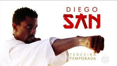 Após folga com dança e Encontro com Fátima, Diego San se prepara para novo desafio - Após folga com dança e Encontro com Fátima, Diego San se prepara para novo desafio