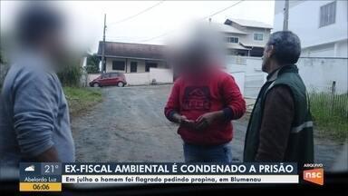 Ex-fiscal ambiental é condenado a prisão por pedir propina em Blumenau - Ex-fiscal ambiental é condenado a prisão por pedir propina em Blumenau