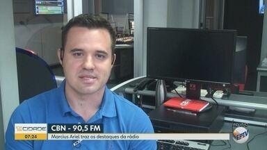 Confira os destaques da rádio CBN Ribeirão nesta terça-feira (17) - Repórter Marcius Ariel comenta as notícias mais importantes do dia.