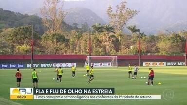 Fla e Flu já pensam no 2º turno do Brasileirão - Rubro-negro enfrenta o Cruzeiro em Belo Horizonte no sábado e tricolor joga com o Goías, no domingo, em Goiânia.