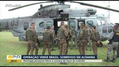 Município de Altamira lidera número de focos de incêndio - Operação Verde Brasil.