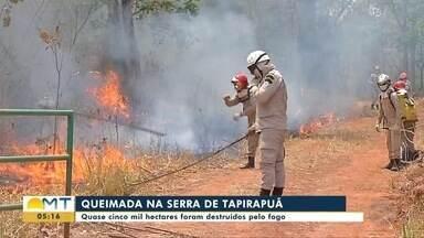 Quase 5 mil hectares foram destruídos pelo fogo na Serra de Tapirapuã - Quase 5 mil hectares foram destruídos pelo fogo na Serra de Tapirapuã