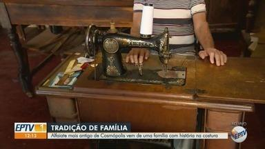 EPTV 40 anos: conheça o alfaiate mais antigo de Cosmópolis - No ano de aniversário de 40 anos da EPTV, conheça um pouco mais sobre as cidades que integram a área de cobertura da emissora.