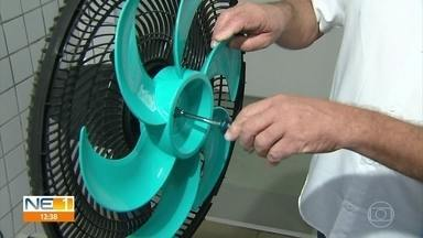 Aprenda como fazer a limpeza de ventiladores e aparelhos de ar-condicionado - Eletrodomésticos precisam passar por manutenção para retirar o excesso de poeira.