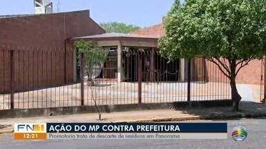 Ação contra a Prefeitura de Panorama trata de descarte irregular de resíduos sólidos - Promotoria diz que tratativas foram tentadas, mas sem sucesso.
