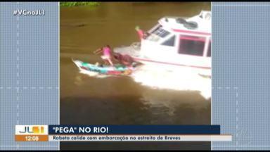 Barco em alta velocidade atinge canoa em rio no município de Breves, no Marajó - Capitania dos Portos informou que o caso não foi registrado porque ninguém ficou ferido