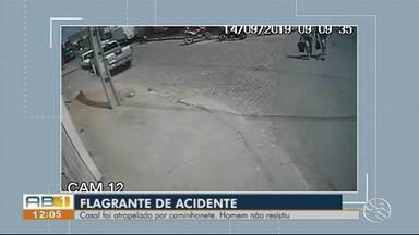 Um homem morreu e a esposa dele ficou ferida após serem atropelados por uma caminhonete - Caso aconteceu em Caruaru no sábado (14).