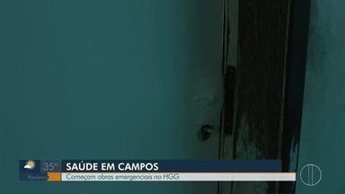 Obras emergenciais no HGG em Campos, RJ, começam - Assista a seguir.