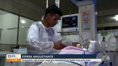 Bebê com problemas cardíaco continua sem conseguir transferência para hospital em Salvador - A criança tem 10 dias de nascimento e está internada em Vitória da Conquista. A justiça determinou transferência imediata.