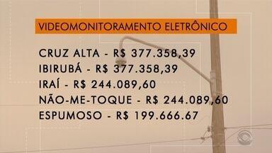 Cinco cidades da região recebem recursos para videomonitoramento - Os maiores valores são para Cruz Alta e Ibirubá.