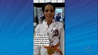 Judoca se inspira na xará medalhista olímpica pra vencer no esporte - Judoca se inspira na xará medalhista olímpica pra vencer no esporte