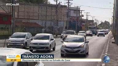 Salvador e Lauro de Freitas têm pontos de engarrafamento no início desta quinta-feira - Vazamento de água provoca congestionamento na Avenida ACM, na capital baiana.