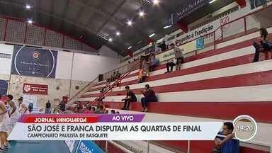 Basquete São José começa a disputar as quartas de final do Campeonato Paulista - Jogo será contra o Franca.