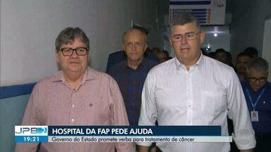 Hospital da Fap pede ajuda e Governo da Paraíba promete verba - O Hospital da FAP é referência no tratamento de câncer, em Campina Grande.