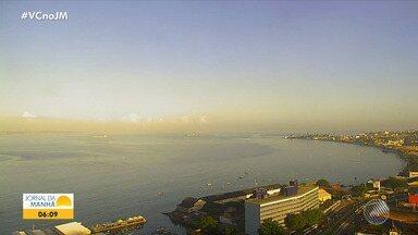 Previsão do tempo: Salvador e cidades do interior baiano têm sexta-feira ensolarada - Veja também as fotos do quadro 'Amanhecer'.