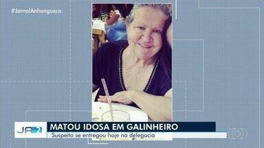 Funcionário suspeito de matar uma idosa para roubar o carro se apresenta na delegacia - Mulher de 72 anos foi encontrada morta com corte no pescoço em chácara de Aparecida de Goiânia
