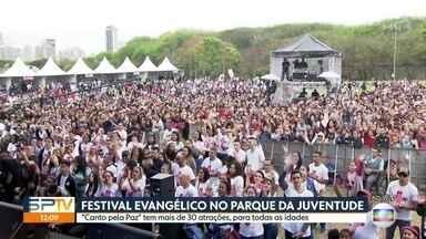 """Festival evangélico """"Canto pela paz"""" deve reunir 200 mil pessoas no Parque da Juventude - Principais nomes da música cristã se reúnem em um mega show."""