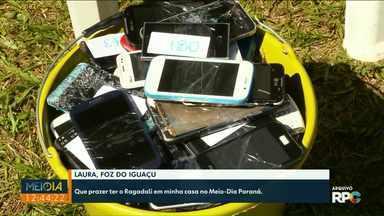 Prova do Arremesso de Celular será realizada no domingo (22/09), no Gramadão da Vila A - É a 12ª edição da competição em Foz do Iguaçu. O objetivo é descartar corretamente os aparelhos de celular estragados.