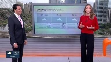 Fim de semana tem previsão de chuva e frio na capital - No último fim de semana de inverno, a temperatura não passa dos22°.