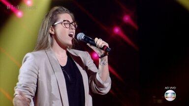"""Luana Berti canta """"O Tempo Não Para"""" - Teló analisa a apresentação da cantora"""