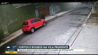 Moradores da Vila Prudente reclamam sobre a falta de segurança - Roubos e furtos cresceram na região em 2019.