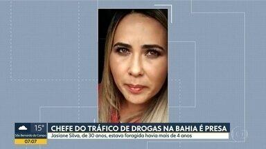 Chefe do tráfico de drogas na Bahia é presa em Biritiba-Mirim - Josiane Silva, de 30 anos, estava foragida havia mais de 4 anos.
