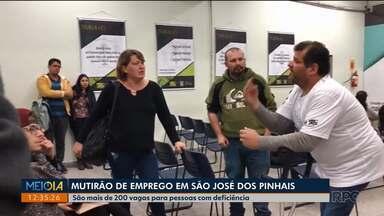 Empresas estão contratando pessoas com deficiência - São dois mutirões: em São José dos Pinhais e em Curitiba