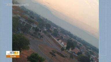 Fumaça de incêndio florestal toma conta do céu de Palmas - Fumaça de incêndio florestal toma conta do céu de Palmas
