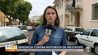 Motorista de aplicativo é detido por dirigir embriagado e importunar passageira - Caso foi registrado em Presidente Prudente nesta quarta-feira (25).