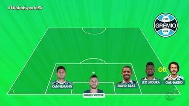 Confira a provável escalação do Grêmio contra o Avaí - Assista ao vídeo.