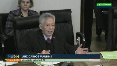 Deputado fala dos salários de parlamentares - Luiz Carlos Martins diz que não reclamou do salário de deputado.
