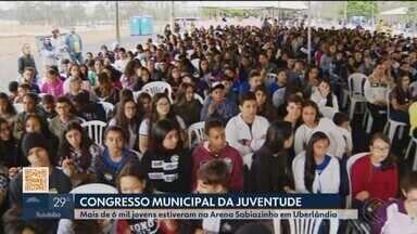 Mais de seis mil jovens participam do Congresso da Juventude em Uberlândia - Evento foi na Arena Sabiazinho onde foram debatidos temas como o futuro, a inteligência emocional, o impacto da tecnologia na vida dos jovens, empreendedorismo e inovação.