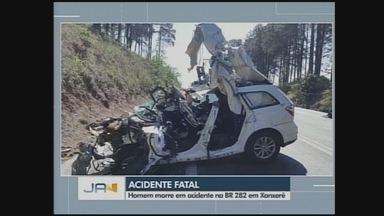 Homem morre em acidente na BR-282 em Xanxerê - Homem morre em acidente na BR-282 em Xanxerê