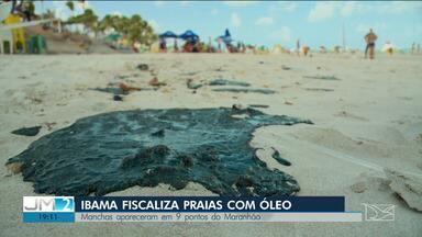 IBAMA mapeia áreas afetadas por manchas de petróleo no Maranhão - As manchas estão poluindo praias de quase todo o Nordeste.