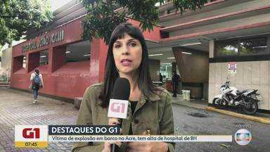 G1 no BDMG: Queimado em explosão de barco no Acre, em junho, tem alta de hospital de BH - O paciente, de 46 anos, foi uma das seis vítimas transferidas do Norte do país para Belo Horizonte; HPS João XXIII é especializado em atendimento de queimados.
