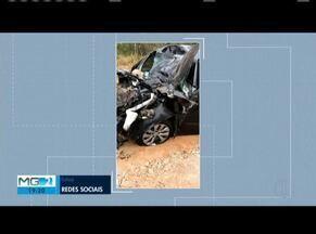 Acidente entre carro e caminhão deixa um morto na LMG-758 próximo a Virginópolis - Segundo a PM, durante uma curva, o motorista do carro de passeio perdeu o controle da direção, e acabou batendo defronte com o caminhão.