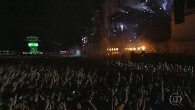 Veja o primeiro dia de Rock in Rio - Primeiro dia do Rock in Rio é marcado por animação, muita música e até protestos.