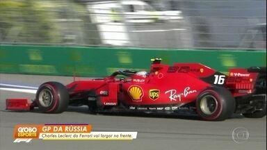 Charles Leclerc larga em primeiro no GP da Rússia - Charles Leclerc larga em primeiro no GP da Rússia