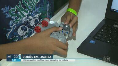 Shopping de Limeira realiza oficina de robótica para crianças e adolescentes - O evento segue até às 19h deste domingo (29), no Shopping Pátio de Limeira. Participação é gratuita.