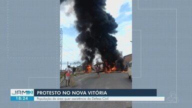 Moradores contabilizaram prejuízos após chuva em Manaus - Forte chuva causou destruição