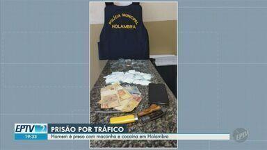 Homem é detido com maconha e cocaína no bairro Flamboyant, em Holambra - Ação foi realizada pela Guarda Municipal após uma denúncia anônima.