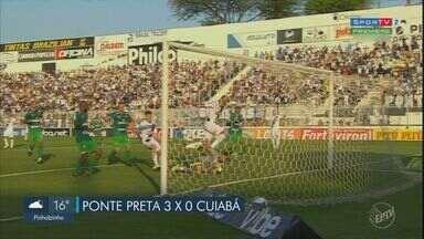 Ponte Preta faz bom jogo e quebra sequência ruim na série B - Com a vitória, a Macaca sobe na tabela e encosta no G-4.