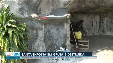 Vândalos destroem monumentos em São José de Ribamar - A cidade é conhecida pelo turismo religioso e abriga um dos santuários mais importantes da região Norte-Nordeste.