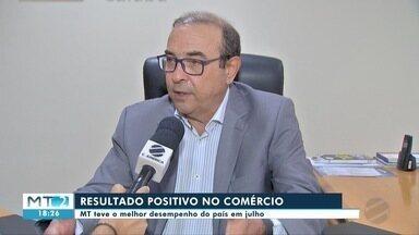 Comércio de Mato Grosso teve o melhor desempenho do país em julho - Comércio de Mato Grosso teve o melhor desempenho do país em julho.