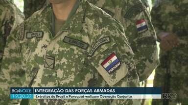 Exércitos do Brasil e Paraguai participam de exercício conjunto no Brasil - Operação se estende pelos próximos dias em toda a região.